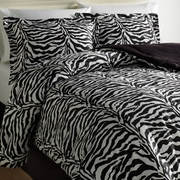 Wild Life Collection  Black Zebra Comforter Sets