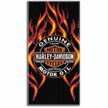 Harley Davidson Beach Towel- Fire & Oil