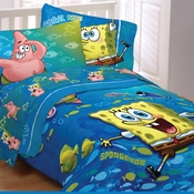 SPONGEBOB  Bedding for Boys or Girls-Fish Swirl