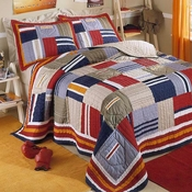 Ronnie Patchworks Quilt & Sham Set