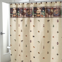 Camping  Trip Shower Curtain and Bath Accessories