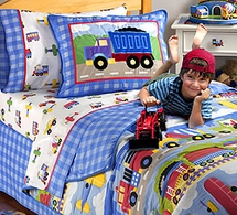NEW! Trains, Planes, & Trucks Kids Bedding by Olive Kids
