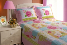 Adora Pink 100% Cotton Quilt Sets for Girls & Teens