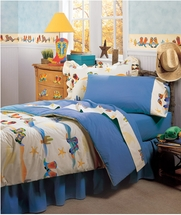Boot Stompin' Cowboys Bedding for Kids