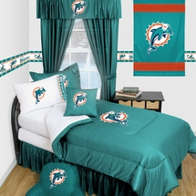 Miami Dolphins Locker Room Bedding & Accessories