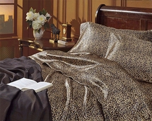 Leopard Print Satin Sheet Sets