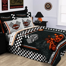 Harley Davidson� Racing Flag Bedding