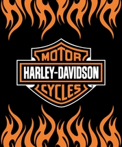 Harley Davidson� Throw Blankets