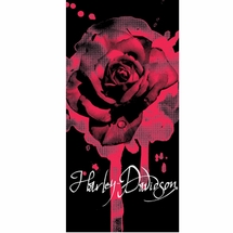 Harley Davidson Rose Beach Towel