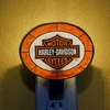 Harley Davidson� Orange Artglass Night Light