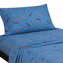 RACE CARS Twin Sheet Set