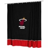 Miami Heat Sidelines Shower Curtain