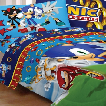 "Sonic the Hedgehog Bedding for Kids- ""Speed"""