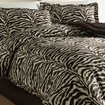 Wild Life Collection Brown Zebra  Comforter Set