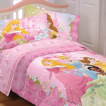 DISNEY PRINCESS Bedding-Dainty Princess Girls Bedding