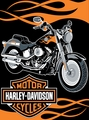Harley Davidson Fat Boy Throw  60 x 80""