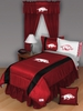 Sidelines ARKANSAS RAZORBACKS Queen Bedskirt