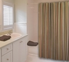 Cocoa Stripe Shower Curtain