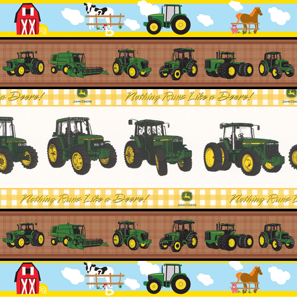 John Deere Tractor Wallpaper Border John Deere Wall Borders Amp