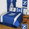 TAMPA BAY LIGHTNING Queen Bedskirt-Sidelines