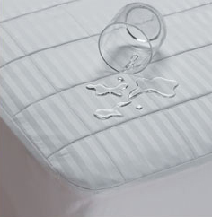 Waterproof Sateen Cotton Fitted Mattress Pad