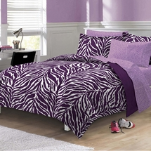 Zebra Purple Bed In A Bag Set-CHF