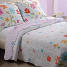 Growing Flowers Cotton Quilt/Sham Set