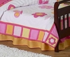 Butterfly Pink & Orange Crib/Toddler Bedskirt