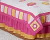 Butterfly Pink & Orange Full/Queen Bedskirt