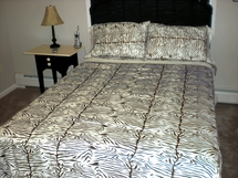 Chocolate/Ivory Zebra Regal Sateen Sheet Sets T300