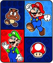 Super Mario Time To Team Up Throw 50x60""