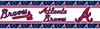 MLB Atlanta Braves Peel & Stick Wall Border