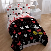 Mickey Mouse Kids Bedding-Mickey Stripes