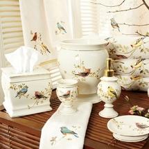 Gilded Birds Shower Curtain and Bath Accessories