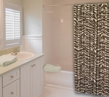 Wild Zebra Brown Shower Curtain