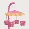 Butterfly Pink & Orange Musical Crib Mobile