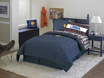 Indiana Pacers Denim Comforter & Sheet Set Combo