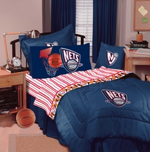 BROOKLYN NETS  NBA  Denim Comforter & Sheet Set Combo