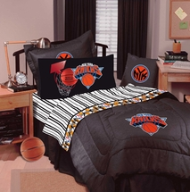 NEW YORK KNICKS Denim Valance or Pillow Sham