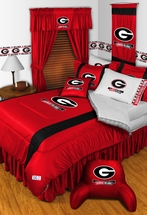 Sidelines Georgia Bulldogs Bedding and Accessories