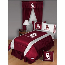 Sidelines Oklahoma Sooners Bedding and Accessories
