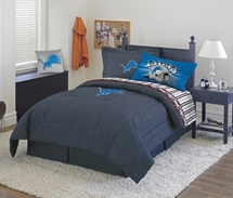 Detroit Lions Denim Comforter & Sheet Set Combo