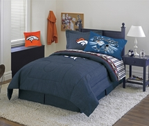 Denver Broncos Denim Comforter & Sheet Set Combo