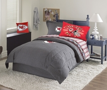 Kansas City Chiefs Denim Comforter & Sheet Set Combo