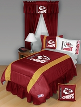 Sidelines KANSAS CITY CHIEFS Bedding and Accessories
