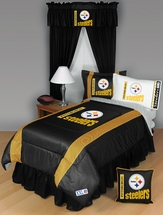 Sidelines Pittsburgh Steelers Bedding and Accessories