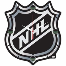 NHL High Def. Plaque Clock