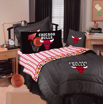 Chicago Bulls Nba Bedding Denim Comforter Amp Sheet Set Combo