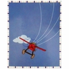 Plane Crazy Microfiber Fleece Blanket