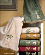 Banana Palm Embellished Bath Towel Sets